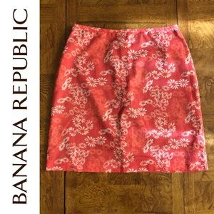 Banana Republic Daisy Floral Print Skirt